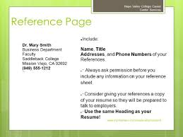 preparing an effective resume napa valley college career center 27 reference