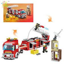 <b>491pcs Fire</b> Fighting Truck Building Blocks <b>City Rescue</b> Team ...
