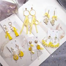 korea handmade anti allergy cat heart asymmetry women drop earrings dangle fashion jewelry accessories qqd5