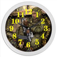 """Часы для офиса c уникальными принтами """"<b>stalker</b>"""" - <b>Printio</b>"""