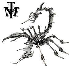 Robot <b>Insect</b> Scorpion Stainless Steel <b>Metal 3D</b> DIY Model Kits ...