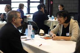 employers provide advice at th annual interview mojo hamilton jessica tang 16 speaks vice president of library and information technology services dave smallen
