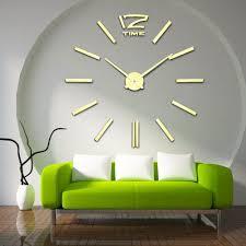 wall clock mirror large
