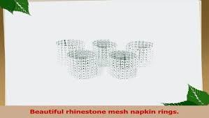 Carlie <b>Napkin Rings</b> Rhinestone <b>Napkin Rings</b> Adornment For ...