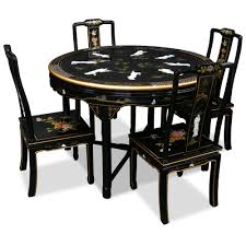 48in black lacquer dining table with 4 chairs black lacquer dining room