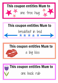Mother's Day coupon booklet - Kidspot Activity