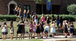 the question of greek life to rush or not to rush the here now students go from house to house during rush to determine which sororities they want to place