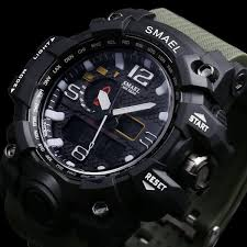 <b>Military Men Watch</b> 50m Waterproof Wristwatch <b>LED</b> Quartz ...