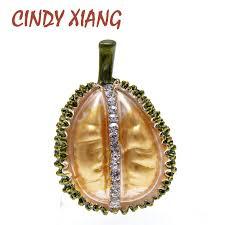 <b>CINDY XIANG 2 Colors</b> Choose Enamel Durian Brooch Fruit Pin ...