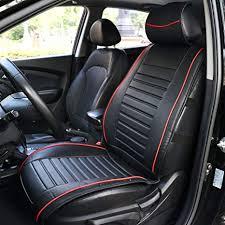 TIROL <b>PU Leather Universal</b> Front Single Car Seat Covers Seat ...