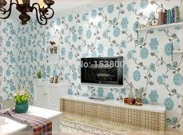 room elegant wallpaper bedroom: d three dimensional embossed wallpaper blue flower bedroom living room elegant wallpaper papeles pintados in wallpapers from home improvement on