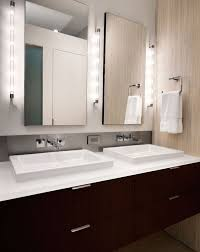 view in gallery clean and minimal vanity design lit up in a stunning fashion bathroom mirror and lighting ideas