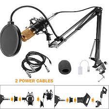 <b>BM800</b> Condenser Microphone Kit <b>Studio Pro</b> Audio Recording Arm ...
