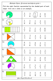 Fractions, Fractions worksheets and Worksheets on PinterestUse Of Multiple Choice Questions In Fractions Worksheets