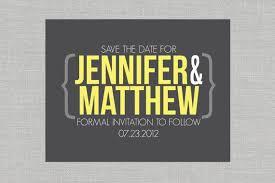 <b>Modern</b> Save the Date Postcard - <b>Custom</b>, Chic Yellow and Gray ...