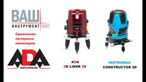 <b>Лазерный нивелир</b> ADA 3D LINER 2V и <b>INSTRUMAX</b> ...