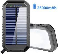 <b>Solar Charger</b>, 25000mAh Battery <b>Solar</b> Power Bank Portable <b>Panel</b>