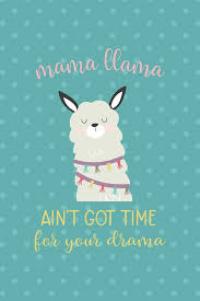 <b>Mama Llama Ain't Got</b> Time For Your Drama: Notebook Journal ...