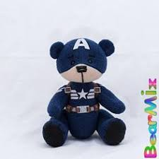 Bucky Winter Soldier bear - <b>marvel</b> superhero <b>movie</b> comic plush <b>toy</b> ...