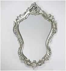 <b>Wall Mirror</b> 90 x 60 cm <b>Baroque</b> Mirror Oval Vintage Look in Silver ...
