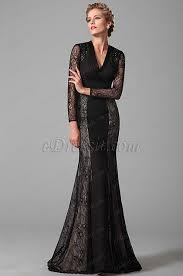 Gorgeous Long Lace Sleeves <b>Black Mother of</b> the Bride Gown ...