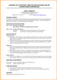 resume template for first part time job resume template for school leavers