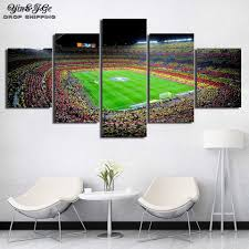 Canvas <b>Prints</b> Poster <b>5 Pieces</b> Art Spain Fc Barcelona Painting <b>HD</b> ...