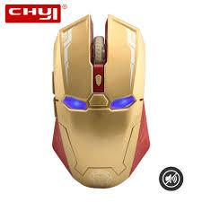 <b>CHYI</b> Iron Man <b>Wireless Mouse Gamer</b> 800/1200/1600/2400 DPI ...