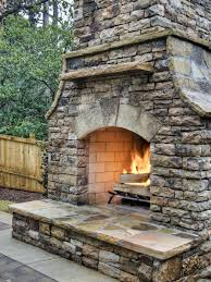 outdoor fireplace paver patio: how to build an outdoor stacked stone fireplace
