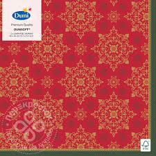 Купить <b>Салфетки бумажные Duni</b> Dunisoft X-Mas Deco Red 40 ...