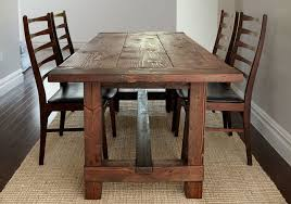 real rustic kitchen table long:  cbc rustic table   de