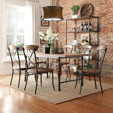 iron dining sets x homelegance  piece industrial dining set with x back chairs from hayne