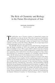 the role of chemistry and biology in the future development of page 61