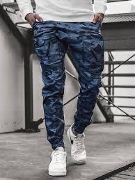 Men's Joggers - <b>Camo</b>-<b>Dark blue</b> OZONEE O/11107 - Men's ...