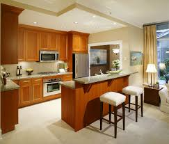 functional mini kitchens small space kitchen unit: small kitchen design ideas with wooden cabinet and wooden island