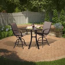 threshold camden 3 piece sling balcony height patio dining set for the home pinterest patio dining sets patio dining and dining sets balcony height patio dining furniture