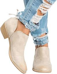 Todaies <b>Hot Women</b> Autumn Shoes Fashion Ankle Solid <b>Leather</b>