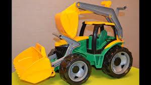 Распаковка игрушек. <b>Трактор</b>-экскаватор большой огромный с ...