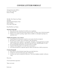 sample cover letter format formats for cover letters