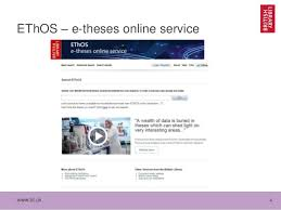 Tentative steps in mining UK theses SlideShare       EThOS     e theses online service