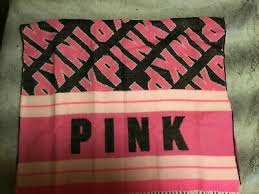 "<b>victorias secret</b> pink ""pink"" oversized 27"" x <b>88</b>"" blanket scarf choice nwt"