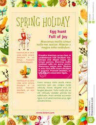 easter egg hunt celebration poster template design stock vector easter egg hunt celebration poster template design