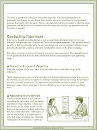 accident investigation facilitator guide pdf conducting interviews interviews should be conducted on a one on one basis conduct