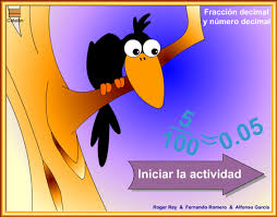 Resultado de imagen de fraccions i decimals