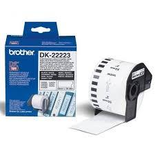 Бумажная <b>клеящаяся лента Brother</b> DK-22223 (белая, ширина 50 ...