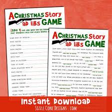 christmas story mad lib party game printable sizzle cone designs christmas story mad lib office party game sizzle cone designs