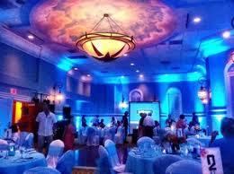 thumb pink shell beach resort blue wedding uplighting