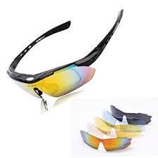 Wolfbike Polarize Sports <b>Cycling Sunglasses</b> with 5 <b>Set</b> ...