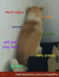 Doge Is Sulky by unhealthy - Meme Center via Relatably.com