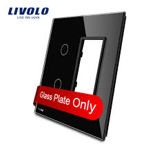 Livolo US standard Luxury <b>Black Pearl</b> Crystal Glass, 2Gang &1 ...